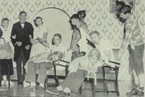 Glen Williams spanks Doris Cartwright, Herbert Carpenter spanks Martha Metzger... and Fred Wooton lends a hand on Martha!