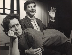 Ben Morgan spanks Shirley Alderman in a 1965 production at Chattanooga, Tennessee