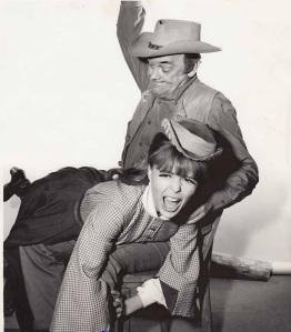 John McIntyre spanks Deborah Walley in the TV series Wagon Train (1964)