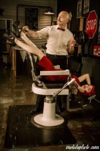Jeff Mawer shaving