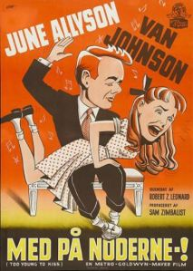 68 1951 Too Young to Kiss Danish poster