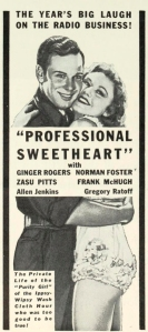 74 1933 Professional Sweetheart