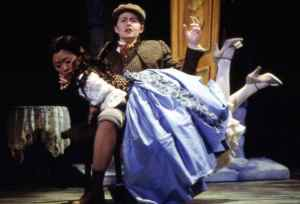 2002 Lortzing Wildschutz Manhattan School of Music Nicole Warner as Nanette spanks Jung-a Lee as Gretchen