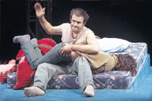 Adam Rothenberg spanks Rosemarie de Witt in a 2004 production in New York