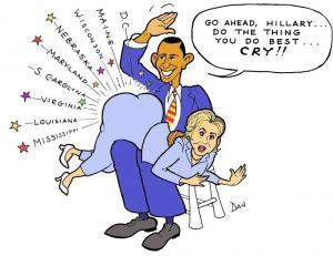 Obama spanks Hillary