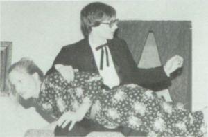 March 26, 1982: Brad Warner spanks Cindy Foster at Ashton High School, Illinois