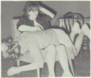 The scene at Marietta High School, Minnesota, on April 22, 1965