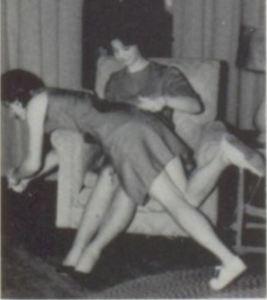 Frankston High School, Texas, 1965-66: Toni Lewis is spanked by Judy Folmar