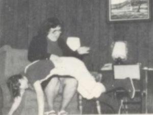 Oklahoma, 1982: Anita Morris spanks Christy Ballard at Alex High