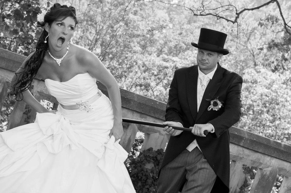 Spanked bride